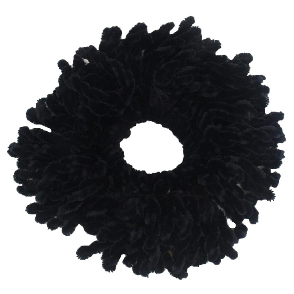 Flexible Rubber Band Simple Hijab Volumizing Hair Scrunchies Large Hair Bow Headwear Accessoire Cheveux Turban