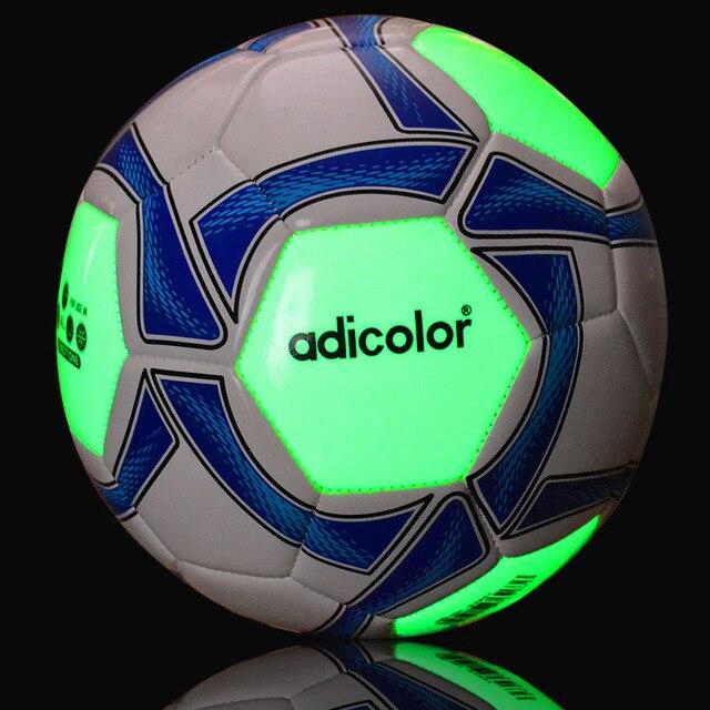 3# 4# 5# adicolor Luminous Football Night Light Soccer Ball Children  Game Train 7 8 inch Rubber Luminescence Children Women Kid