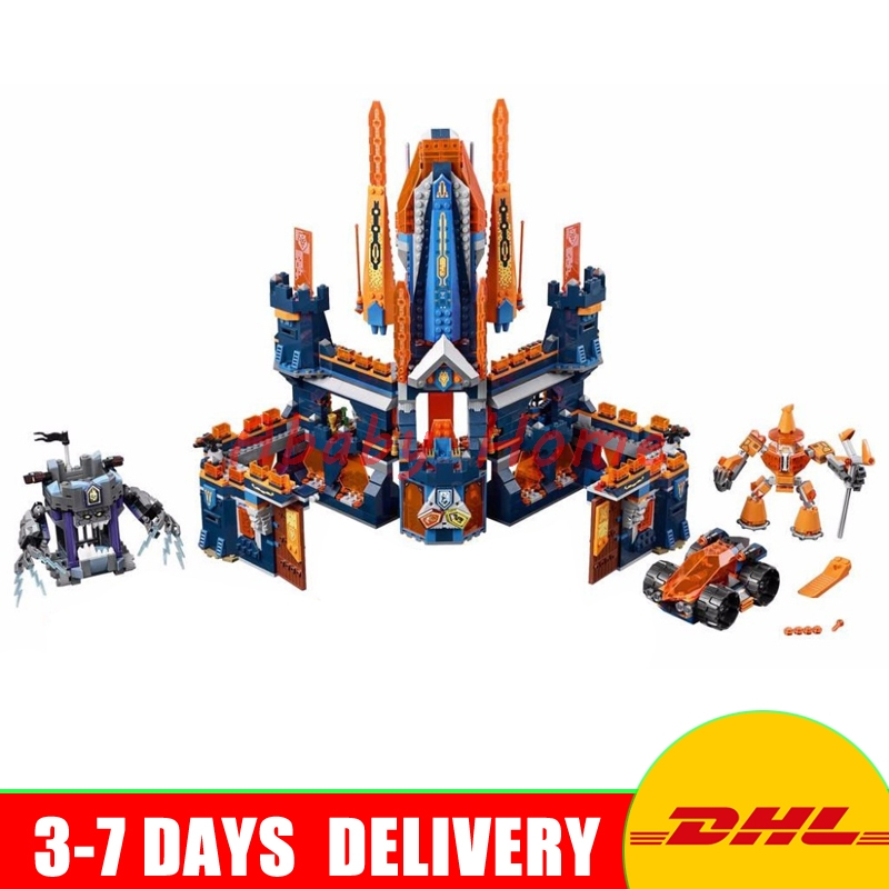 DHL Lepin 14037  1295Pcs King Castle Nexus Knights Model Building Blocks Bricks figures Kids  Model Toys Compatible 70357 lepin 14004 knights beast master chaos chariot building bricks blocks set kids toys compatible 70314 nexus knights 334pcs set