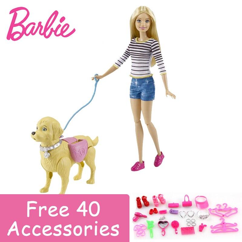 Оригинальный Барби авторизоваться бренд моды куклы модель велосипеда собака игрушка для верховой езды для девочек подарок на день рождени...