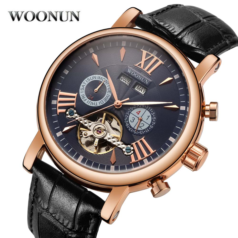 New Men Tourbillon Watches Top Brand Luxury Automatic Self-wind Mechanical Watch Men horloge man horloges mannen reloj de hombre 2017 top luxury men watches skeleton analog wrist watch men s mechanical auto self wind dress watch horloges mannen with box
