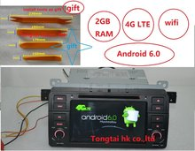 7 дюймов Android 6.0 для BMW E46, M3, автомобильный DVD, навигация GPS, Wi-Fi, 4 г LTE, BT, canbus, радио, rds, 2 ГБ Оперативная память, 1024×600, Поддержка DVR, OBD2.