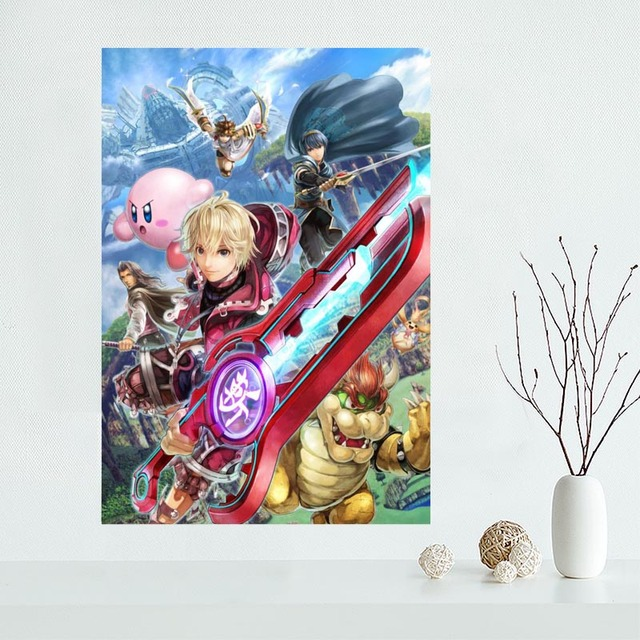 Custom Super Smash Bros Canvas Poster Home Decoration poster cloth fabric Canvas Painting wall poster print 2