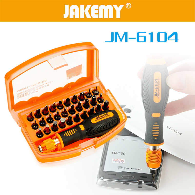 31 in 1 JAKEMY Chroomvanadiumstaal Schroevendraaier Set antislip Handvat Schroevendraaier Hoofd Voor Huishoudapparaat Reparatie Tool Kit