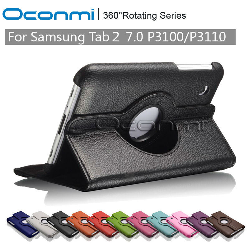 360 Rotating PU Leather case for Samsung Galaxy Tab 2 7.0 inch with stand function for Samsung SM-P3100 SM-P3110 Tablet cover стоимость