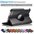 360 Rotating PU Leather case for Samsung Galaxy Tab 2 7.0 inch with stand function for Samsung SM-P3100 SM-P3110 Tablet cover