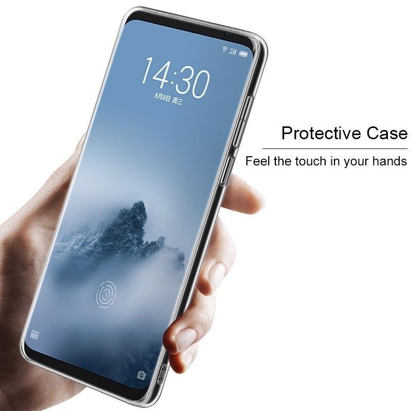 IMAK Meizu 16th Case Meizu 16th Plus Cover Crystal Pro transparente Durable PC funda trasera dura para Meizu 16 + Plus