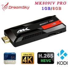 MK809IV Pro Amlogic S905X Quad-Core 1GB+8GB Android 6.0 HDMI TV Dongle WIFI H.265 Smart Mini TV Stick
