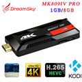 MK809IV Pro S905X Amlogic Quad-Core 1 GB + 8 GB Android 6.0 HDMI TV Dongle WIFI H.265 Inteligente Mini TV Vara