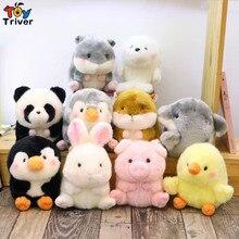 20cm Plush Rabbit Pig Panda Hamster Penguin Dolphin Chick Sea lion Toy Stuffed Animal Doll Baby Kids Children Birthday Gift