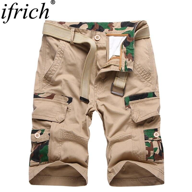 Pantalones Homme 2019 Camo Moda Camuflaje Multi Nueva Cargo Verano Cortos Militares Bolsillo De IY6yf7vbg