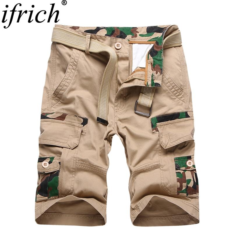 Cortos Camo Nueva Verano 2019 Homme Cargo Pantalones Bolsillo Camuflaje Moda Multi Militares De 35qAj4RL