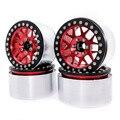 Совершенно новые колеса 1/10 RC Rock Crawler из алюминиевого сплава 2 2 Beadlock  4 шт.  обода для осевого SCX10 RR10 spectra 90048  traxxas TRX4