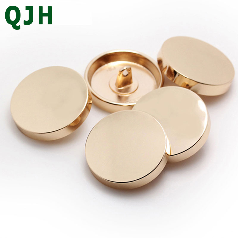 1pcs Flat Top Metal Button Sewing Accessories Scrapbook Button Shirt Clothes Button Black Silver Gold Clothes Decorative Button in Buttons from Home Garden