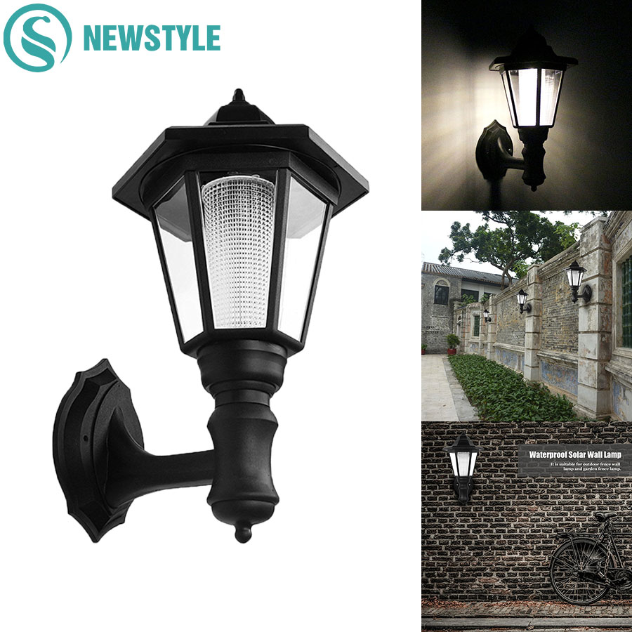 2pcs LED Wall Solar Lamp Outdoor Waterproof IP55 Solar Light  0.5W Garden Yard Light White/Warm White Lawn Lights