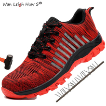 2019 New Men Military Industrial Work Shoes Mens Outdoor & Safety Boots Breathable Mesh Steel Toe Army