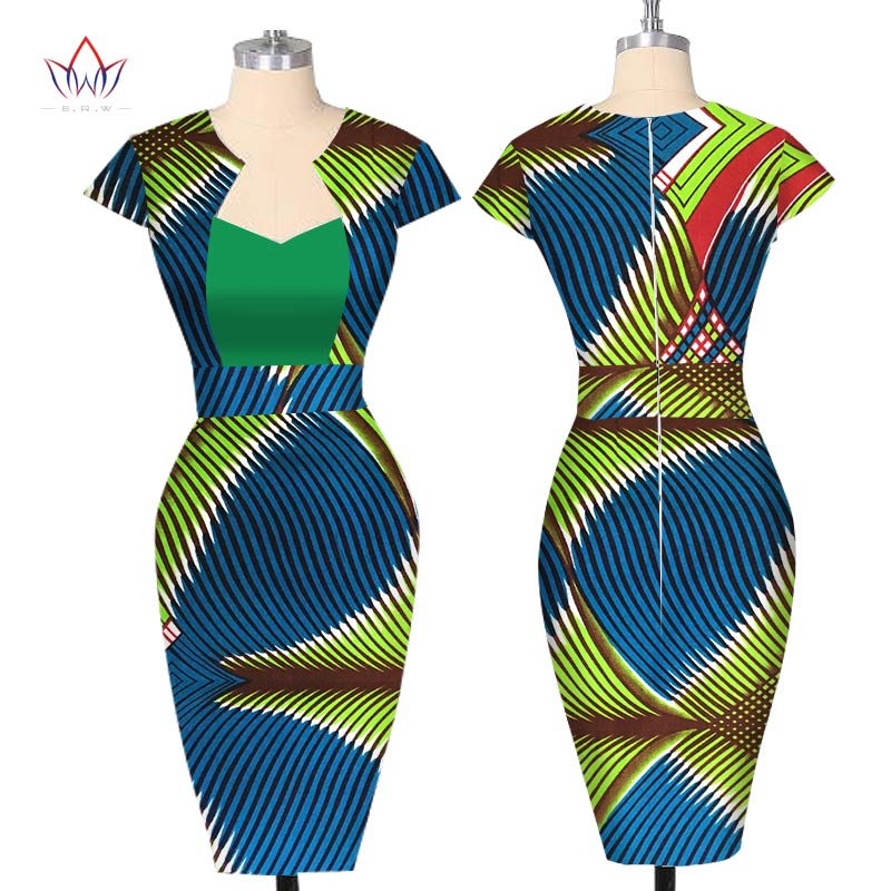 Robes africaines pour femmes été femme robe de soirée sans manches gaine Dashiki imprimer grande taille afrique vêtements 6XL BRW WY110
