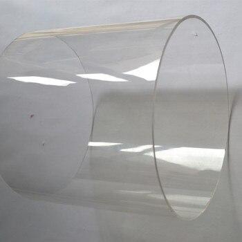 Tubo de agua acrílico transparente, tubería de agua para acuario, PMMA, Material de proceso de Perspex, puede cortar en cualquier tamaño, 2 uds.