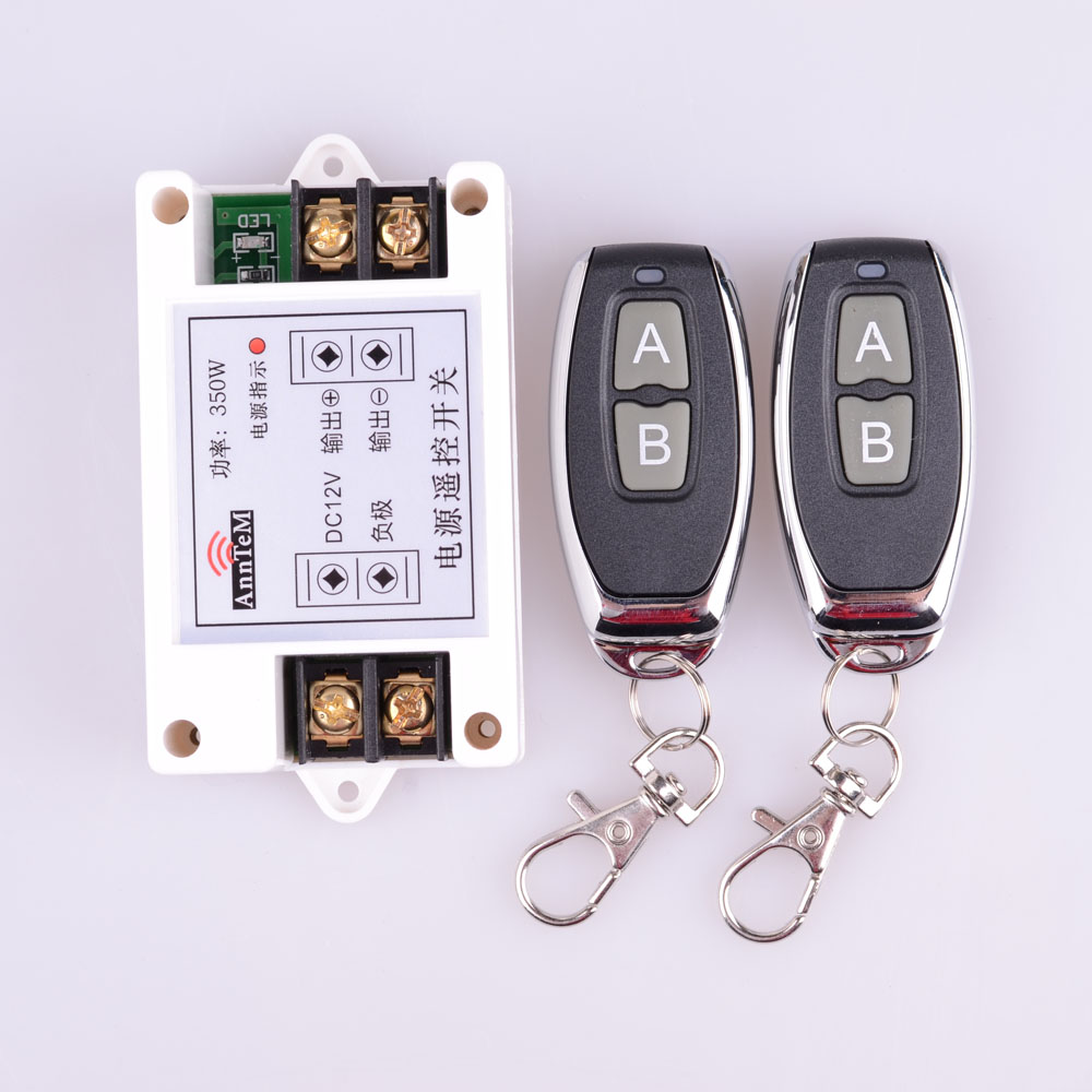 433/315Mhz High Power 12V DC 40A 350W RF Wireless Remote Control Lighting Switch Input 12V Output 12V Delay Time 5S Receiver dc 12v led display digital delay timer control switch module plc automation new