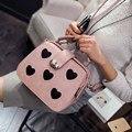 New European fashion mujeres bolso ocasional primavera del color del caramelo de Las Señoras crossbody bags impresión del corazón dulce bolsa de mensajero médico, LB1698