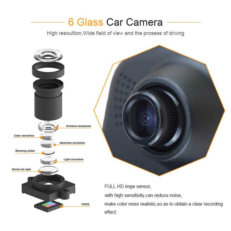 Dash Cam Gương Dash Camera Dual Camera Ống Kính Ô Tô DVR 2 Camera Chiếu Hậu Dashcam Full HD Đầu Ghi Hình Trước và Phía Sau