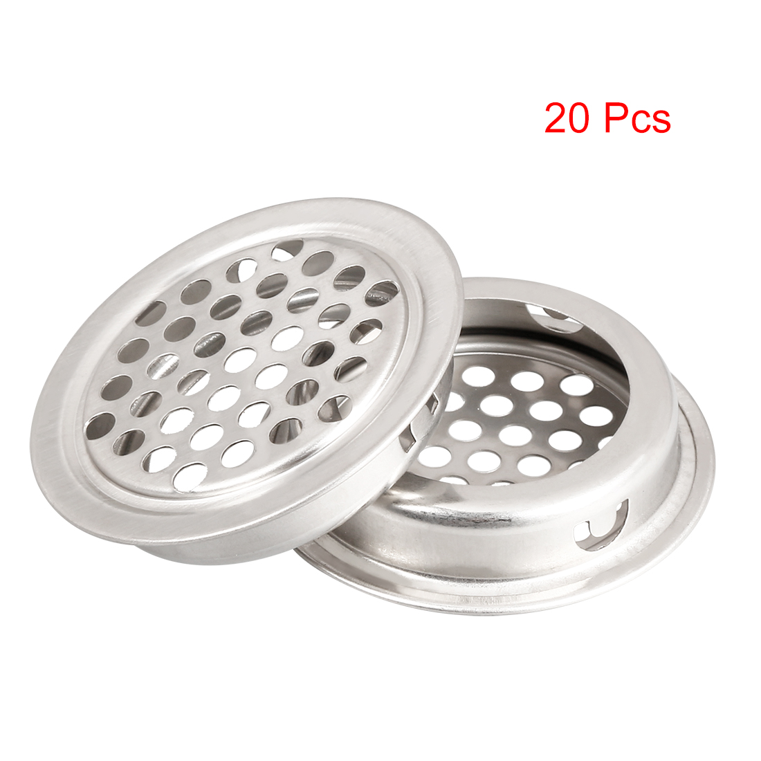 Uxcell New 20pcs 35mm 53mm Bottom Air Vent Extract Valve Grille Round Diffuser Ducting Ventilation Cover Air Vent Ventilator