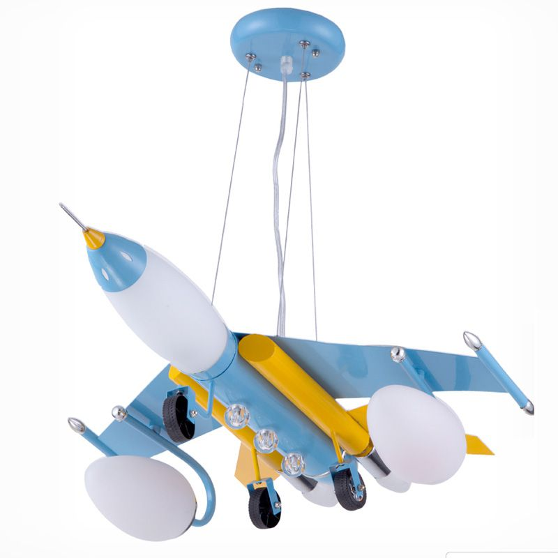 Iron Vliegtuig Jongen Kamer Opknoping Lamp Creatieve Kinderkamer ...