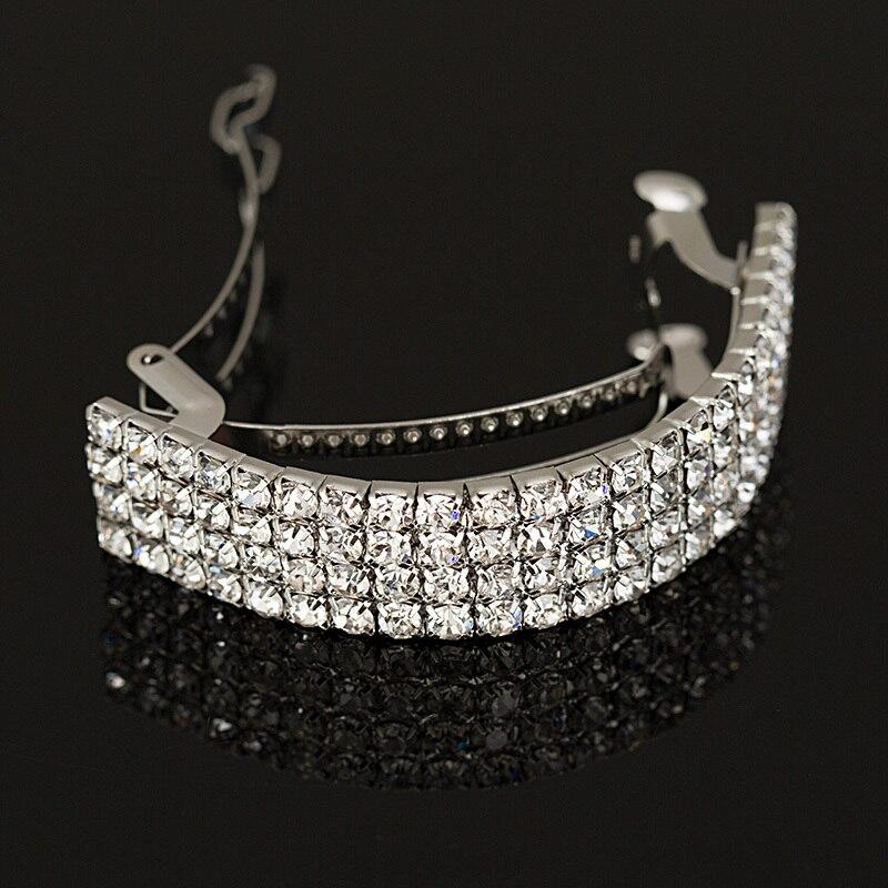2018 NEW Girls Fashion Chic Crystal Rhinestone Moon Hair Clip Bang Clip Hair pins Hearwear Silver Wedding Hair Accessories #H001