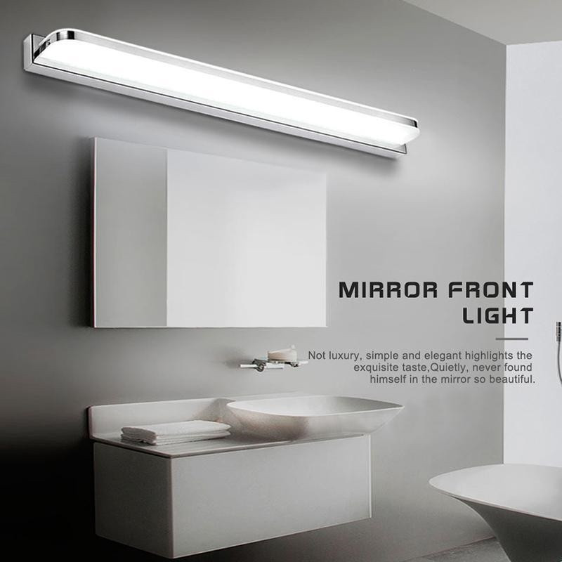 LED Acrylic 9W/12W/14W 42/52/62cm Wall Lamps Stainless Steel Anti-fog Waterproof Cosmetic Mirror Vanity Bathroom Light 40cm 12w acryl aluminum led wall lamp mirror light for bathroom aisle living room waterproof anti fog mirror lamps 2131