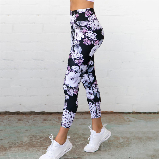 Floral Printed Ankle length  Fitness Yoga Sport Leggings