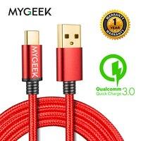 MyGeek Update Nylon USB Type C Cable usb for Samsung Xiaomi mi5 Oneplus Meizu LG Nexus 5x Huawei letv type c wire