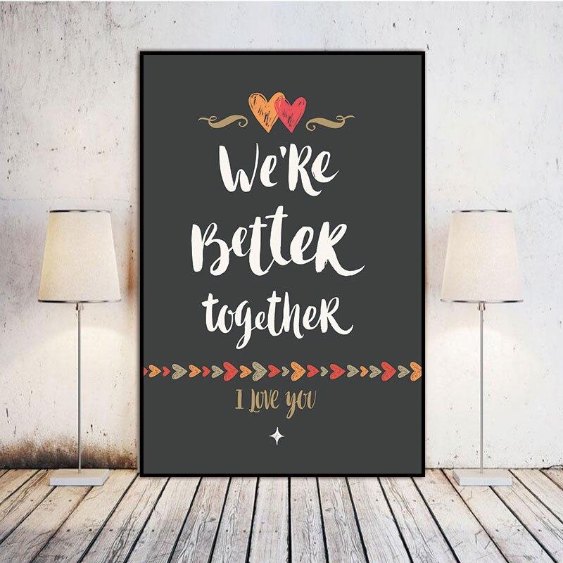 ▻Escandinavo estamos mejor juntos nórdico resumen carta pared arte ...