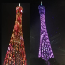 Full color DIY LED Light Cube Canton Tower Suite Wireless Remote Control Electronic Kit colorfull led kits