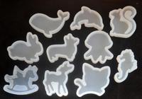 10mix New Animal Shape Epoxy Silicone Molds DIY Pendant Epoxy Resin Casting Mould Hand Craft Tool