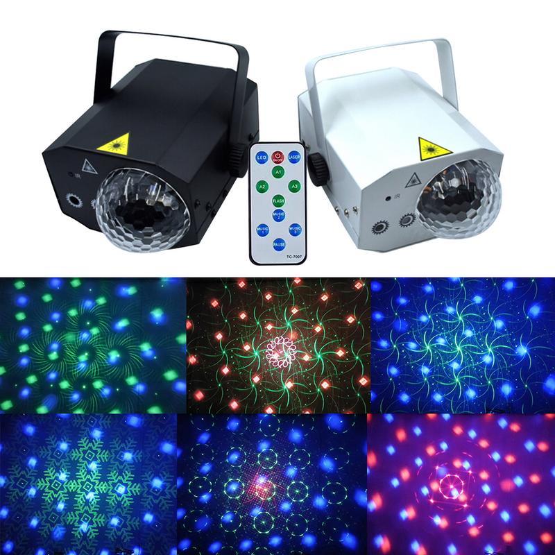 16 modèles + 1 projecteur de lumière Laser boule magique télécommande 10 W DJ Disco eau vague lumière scène éclairage effet lampe