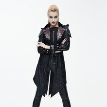 Female Gothic coat winter Zip Cardigan Street Dark Knight costume in the long hooded coat lapel