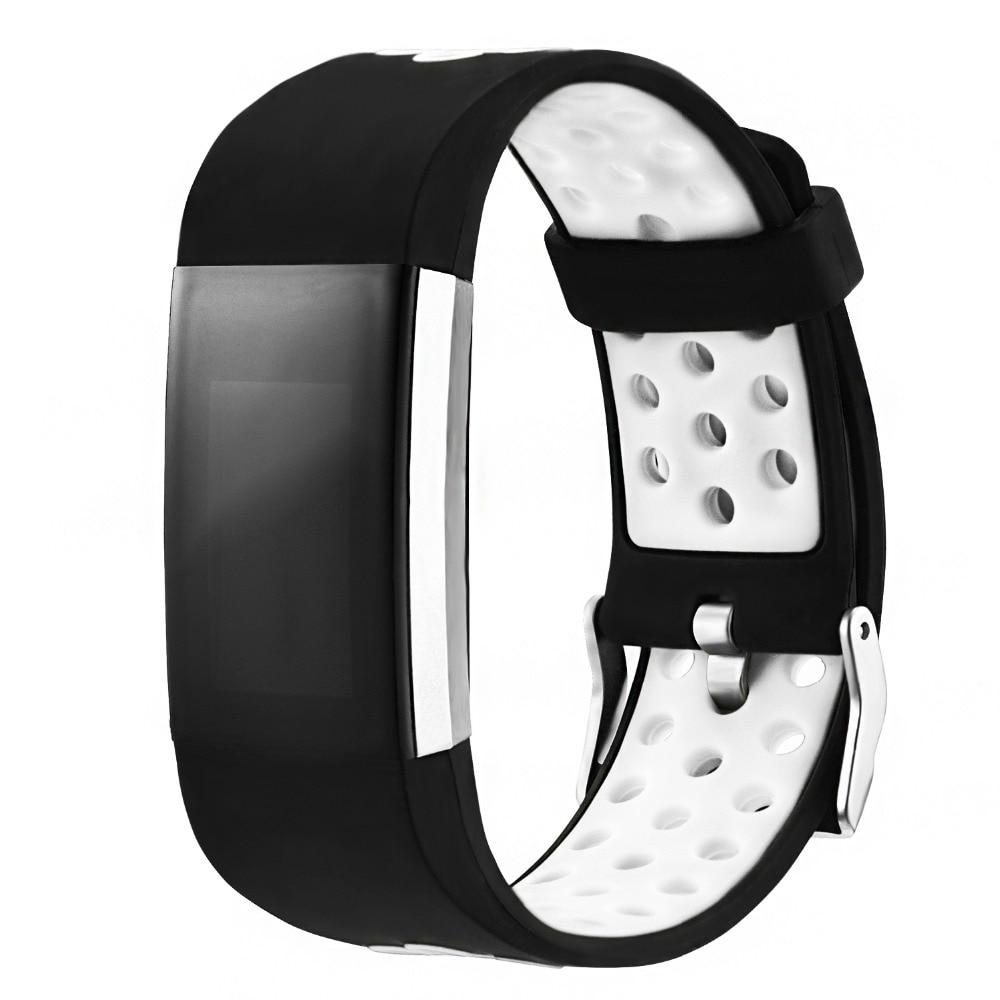 Double Color Sport silikoonriba Fitbit Charge 2 Smart käevõru asendamine rihma eest 2 Bands