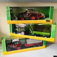Alloy car farm tractor water truck Fence transport car model tillage machine children's toys W78