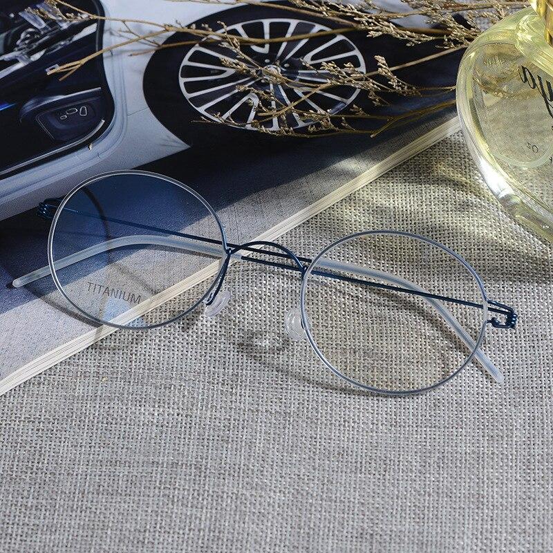 Bekleidung Zubehör Vazrobe Titan Brille Männer Frauen Runde Keine Schraube Punkte Nerd Anpassen Myopie Dioptrien 1,56 1,61 1,67 Photochrome Progressive Attraktiv Und Langlebig