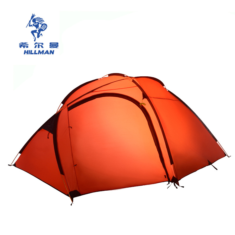 Hillman Good Quality Aluminum Poles Ultralight Double Layer 3 4 Person Waterproof Professional Camping Tent Beach