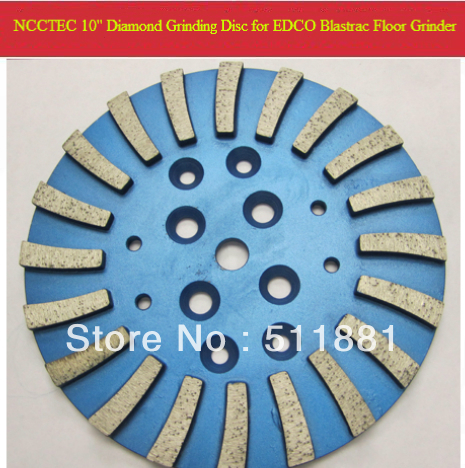 10'' MK Diamond Concrete Grinding Disc Head Plate for EDCO Blastrac  concrete grinder | 250mm Cement Abrasive disk | 20 segments