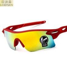 Leidisen 2017 Anti-Glare Goggles Eyeglasses Polarized Driving Sunglasses red green Lens Night Vision Driving Glasses for Men