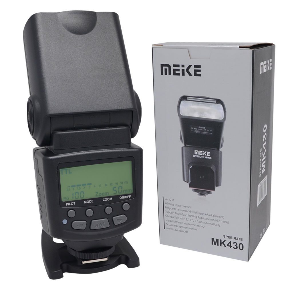 Meike MK-430 MK430 TTL Flash Speedlite for Canon 430EX II EOS 5D III 6D 60D 450D 500D 550D 600D 650D 700D 1000D 1100D 2017 new meike mk 930 ii flash speedlight speedlite for canon 6d eos 5d 5d2 5d mark iii ii as yongnuo yn 560 yn560 ii yn560ii