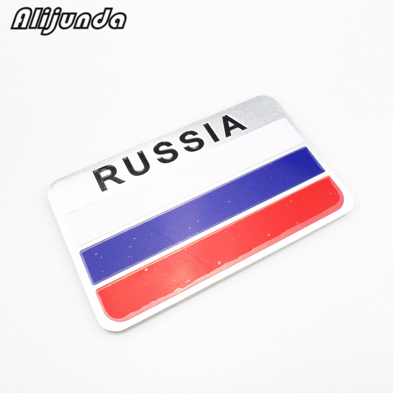 عالية الجودة روسيا سيارة ملصقا 3d العلم شعار ، التسمية ملصقا اكسسوارات ل جيلي الرؤية SC7 MK CK عبر Gleagle SC7 Englon SC3