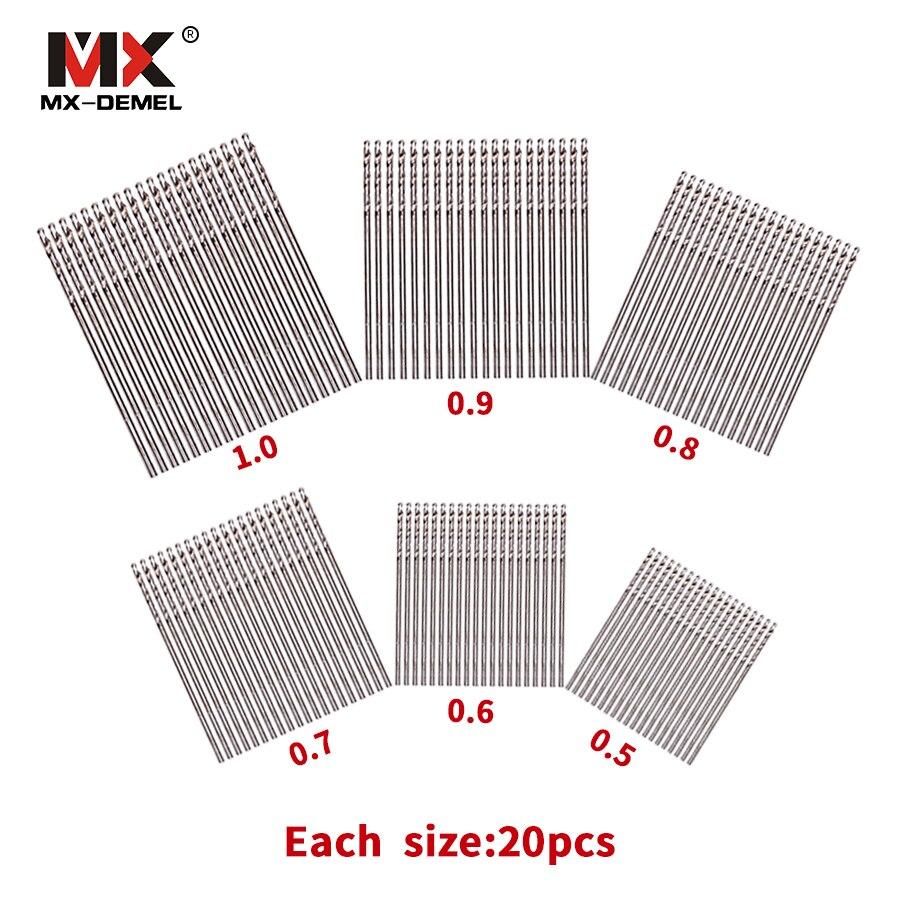 MX-DEMEL 120PCS HSS Straight Shank Twist Drill Walnut Vajra Bodhi Pearl Beads Punch Tiny Little Bit 0.5 0.6 0.7 0.8 0.9 1.0 mm