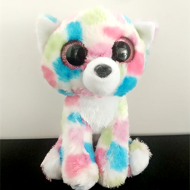Ty Beanie Boos 6 quot  Sophie Pink Polka Dot Cat Boo Beanie Baby Plush  Stuffed Doll 6425d64bfe8