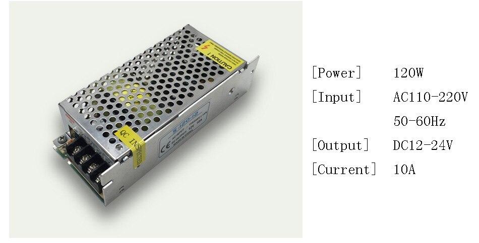 DC 12V LED strip driver Power Adapter 1A 2A 3A 5A 10A 15A 20A Switch Power Supply AC110V-220V 24V Transformer Power 60W 78W 120W(4)