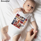 Lovely Harry Potter Print Newborn Bodysuits Cotton Short Sleeve Summer Kids Jumpsuits Children Boys Girls Clothes Outfits Onesie
