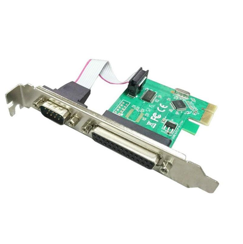 Sériový port RS232 RS-232 sériový port COM & DB25 tiskárna Paralelní port LPT na PCI-E PCI Express stoupačka Adaptér karet WCH Chip