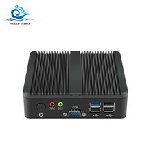 Esperanza sin ventilador Mini PC Dual LAN 2 * COM Intel Pentium J2900 2,41 GHz 2 * Gigabit LAN Windows 7/8/10 WIFI HDMI Mini USB de la computadora(China)